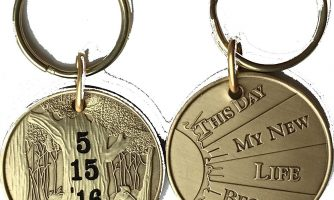 Personalized Engraved Date Medallion or Keychain This Day My New Life Began