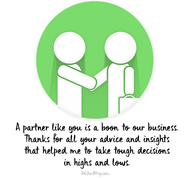 Business Thank You Notes To Associates