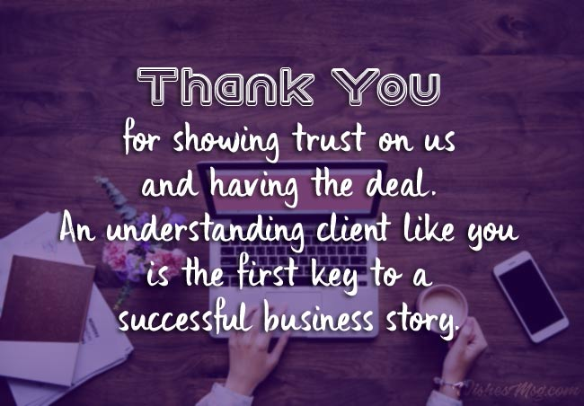 Business Thank You Notes To Service Provider