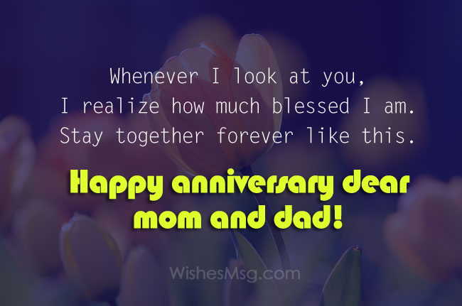 Christian Anniversary Wishes for Mom Dad