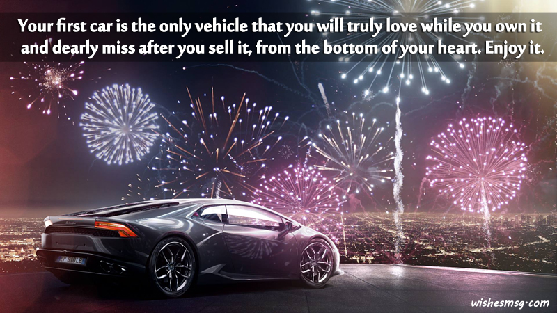 congratulations wishes messages for new car