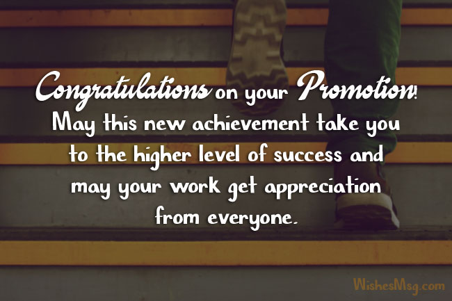 Congratulations Messages For Promotion Of Colleague