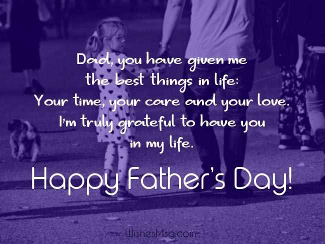 Father's Day Wishes From Daughter