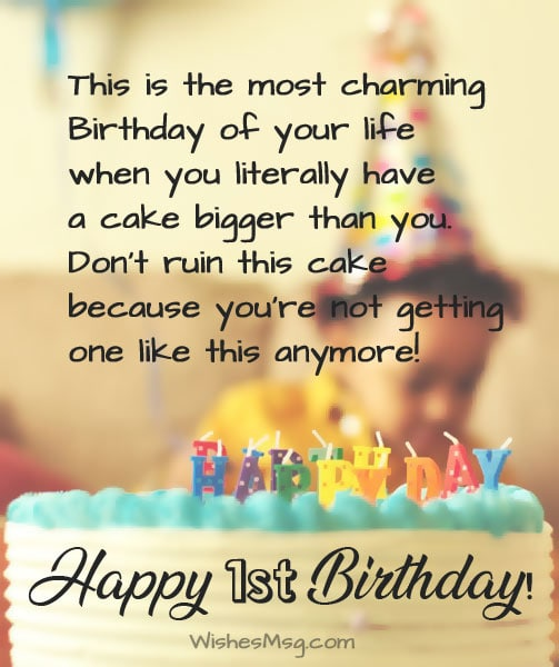 First Birthday Wishes And Messages For Baby Ultra Wishes