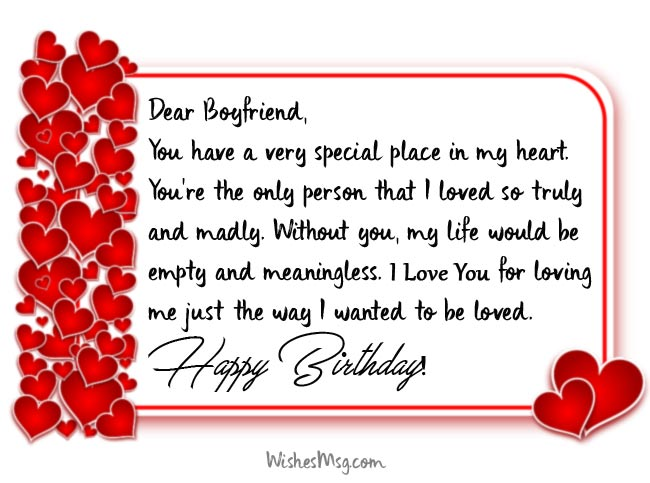 Birthday Wishes For Boyfriend Romantic Birthday Messages Ultra Wishes