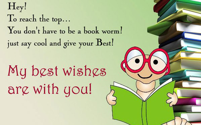 best wishes picture for exam