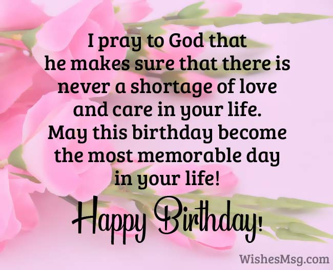Religious Birthday Wishes Messages