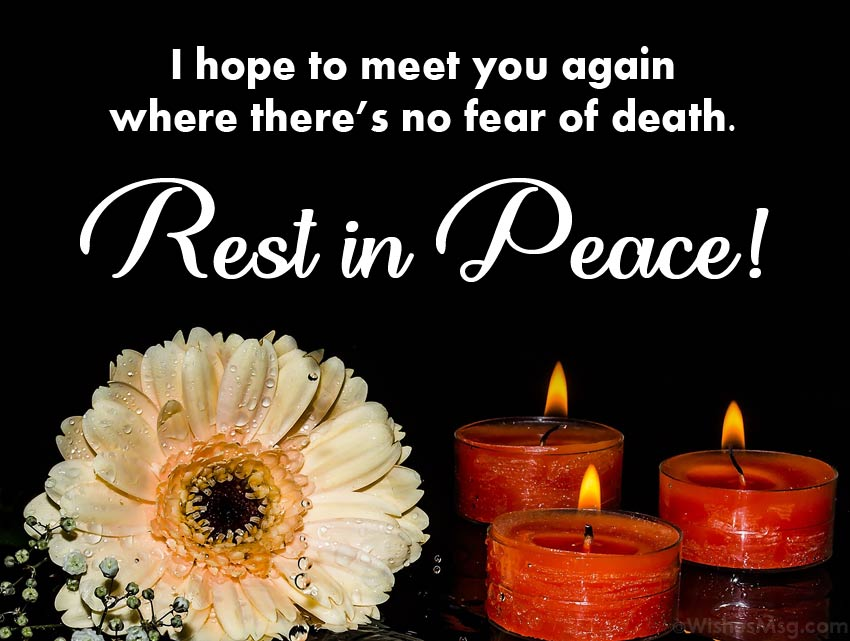 RIP Message for Loved One