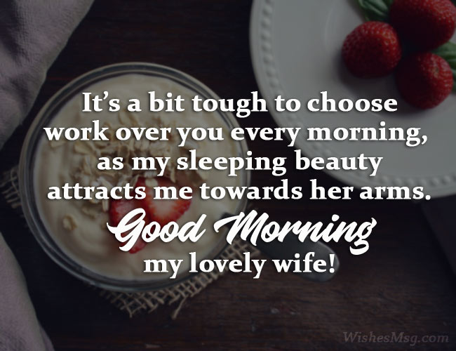 Romantic Morning Wishes For Wife