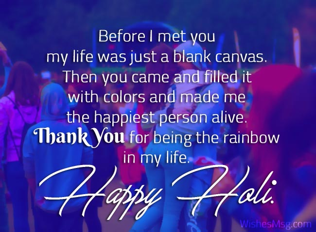 Romantic Holi Wishes Messages