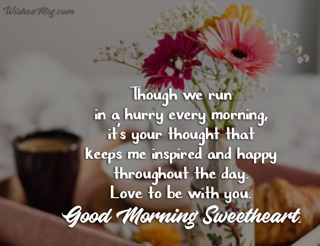 Sweetest Good Morning Wishes for Wife