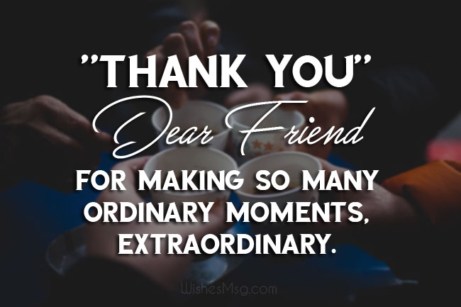 Sweet Thank You Message for Best Friend