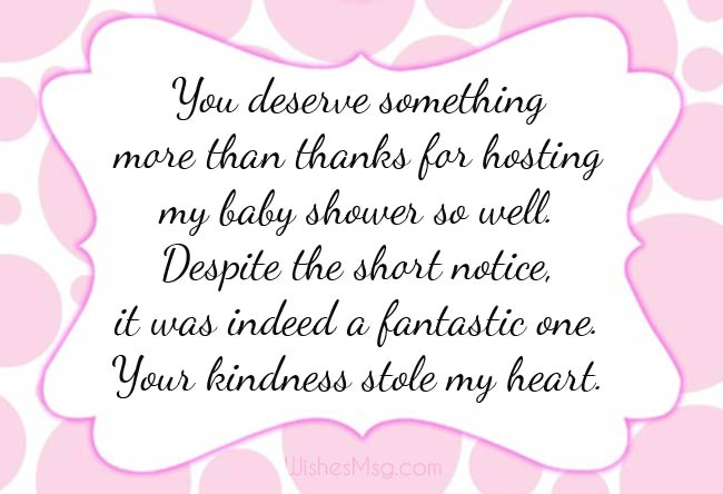 Thank You Message For Baby Shower