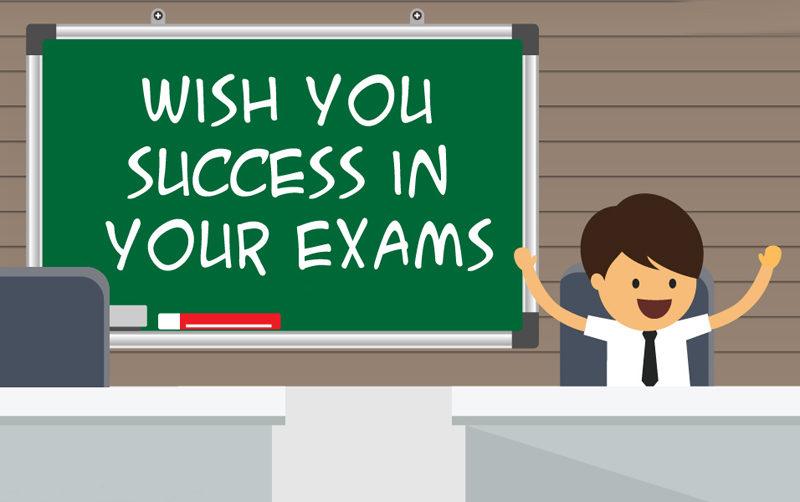 wish you success in your exams messages