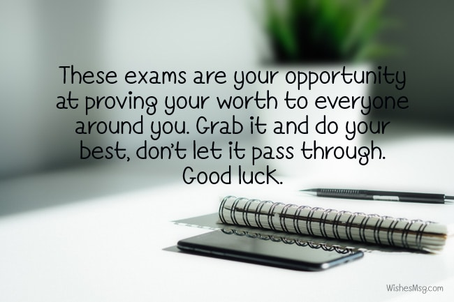 good luck exam wishes
