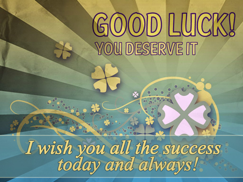 good luck wishes image