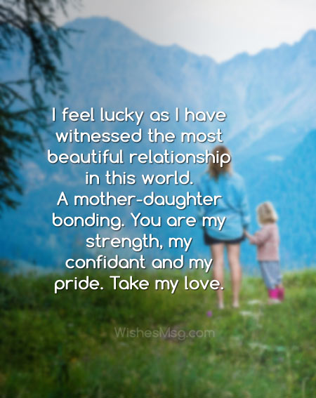 message for mother from daughter