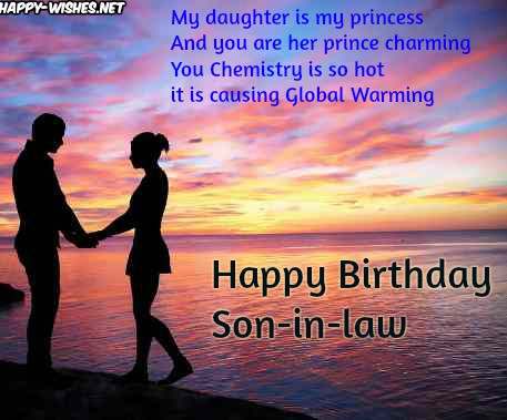Happy Birthday Wishes for son-in-law