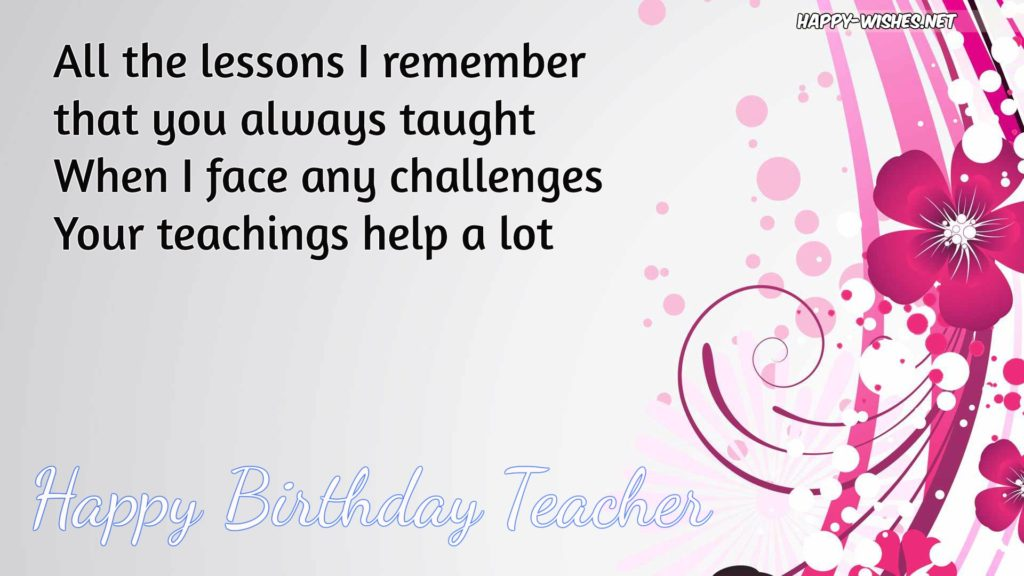 Happy Birthday Wishes For Teacher Quotes Images Ultra Wishes