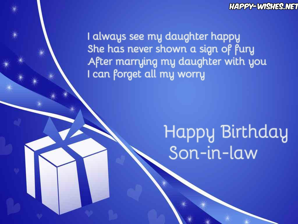 Happy Birthday images for son-in-law