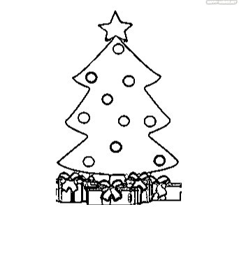 Best Christmas Tree Coloring Pages for School Kids