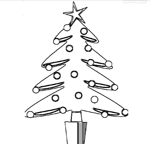 Best Christmas tree coloring pages images