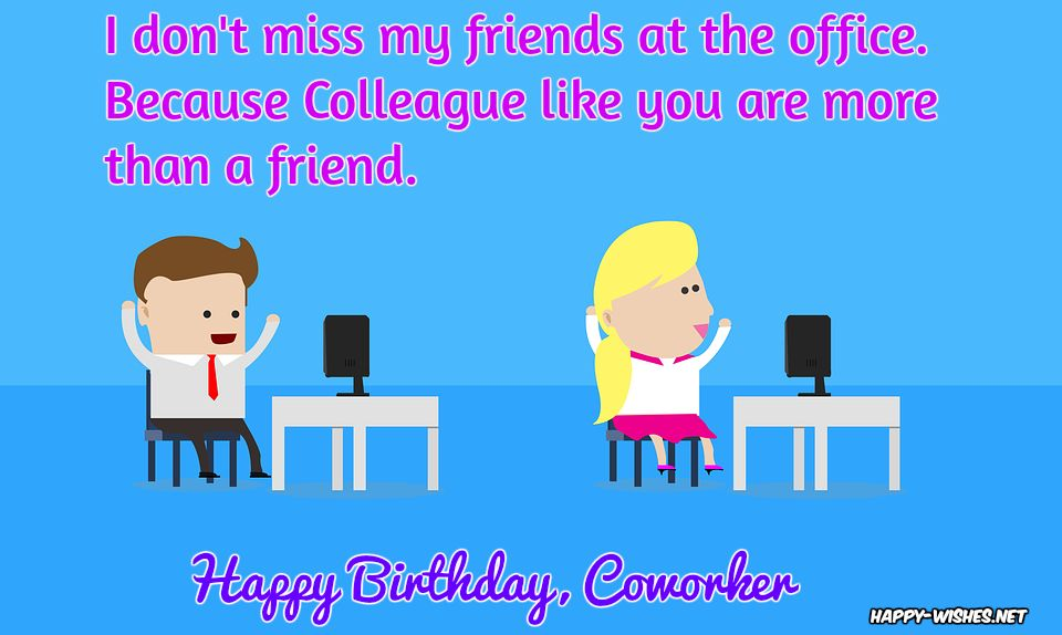 Birthday wishes for coworker