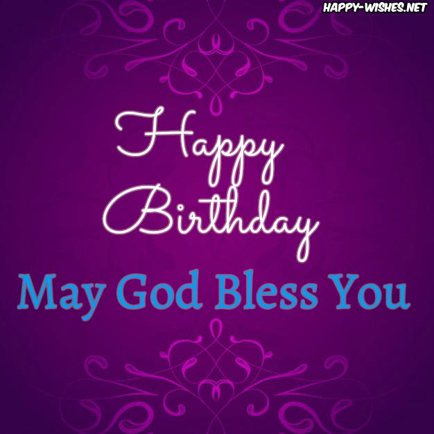 Christian Birthday wishes with purpel background images