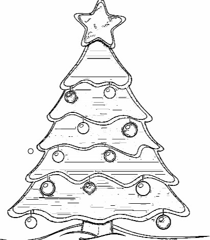 Christmas Tree coloring Pages for best friends