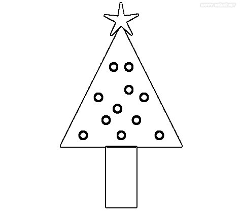 Christmas Tree coloring Pages with Unique Style