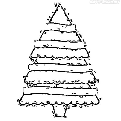 Christmas Tree coloring pages for the friends