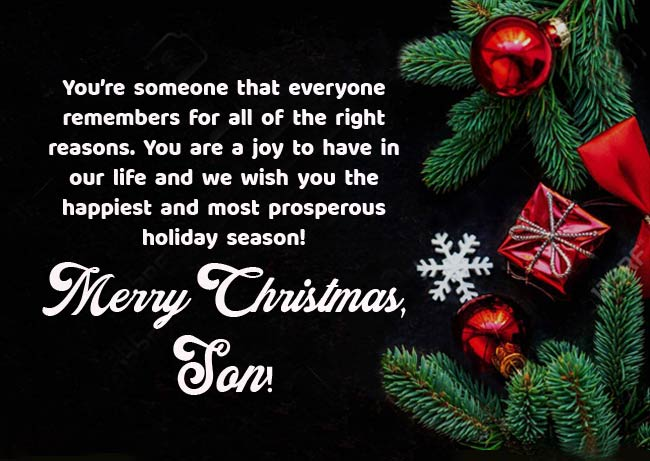 To A Very Special Son ~ Wishing You A Merry Christmas~ Christmas Card