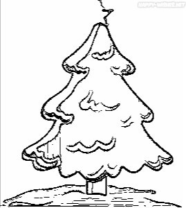 Christmas tree Coloring Pages for painting