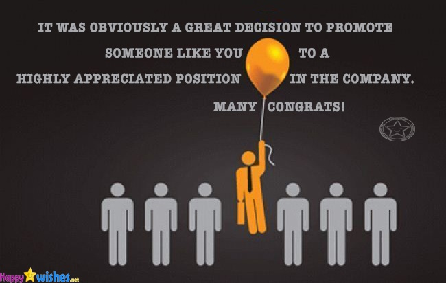 Congratulations wishes on your promotion image