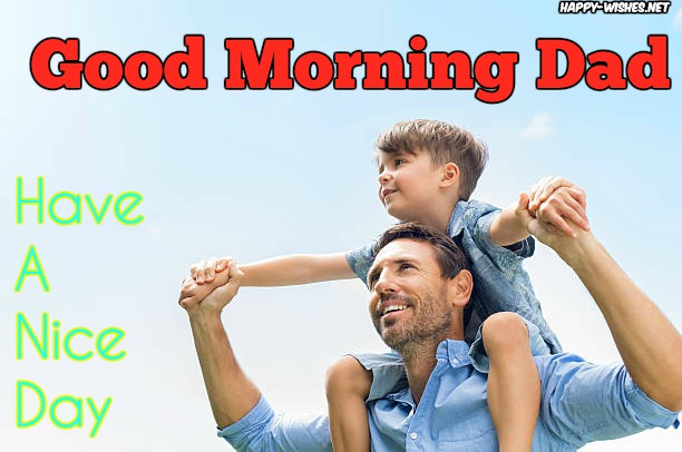 Father and son images in Good Morning Wishes