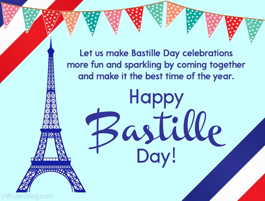 Happy Bastille Day Messages