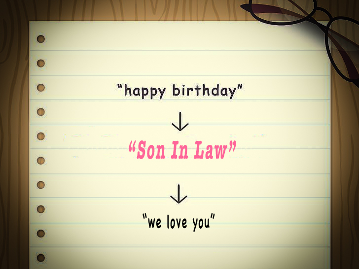 Happy Birthday Son-in-Law , We Love you