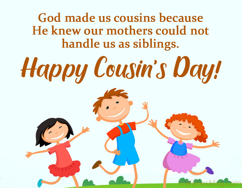 Cousins Day Message for Cards