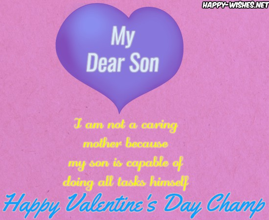 Happy Valentine's day Wishes For Son
