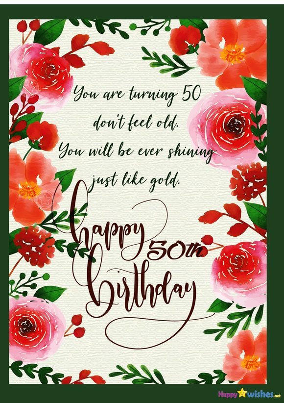 Happy 50th Birthday Wishes Quotes Images Ultra Wishes