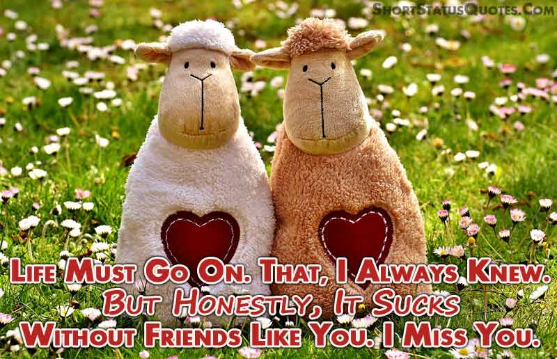 Friends you miss my 39 Quotes