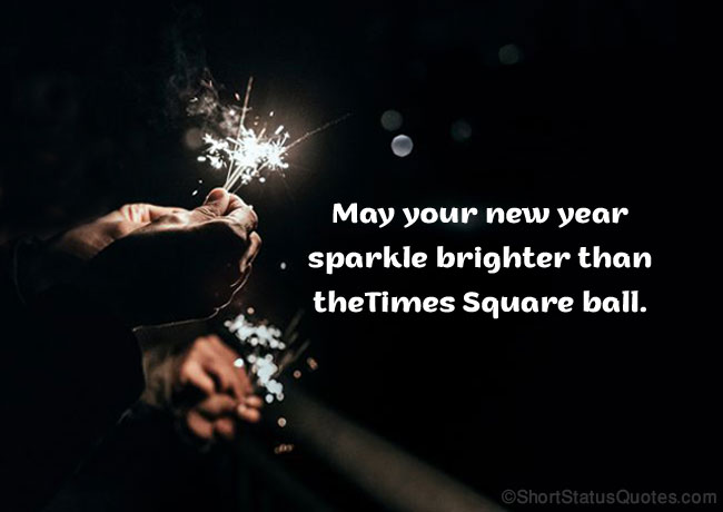 Caption for New Year's Holiday