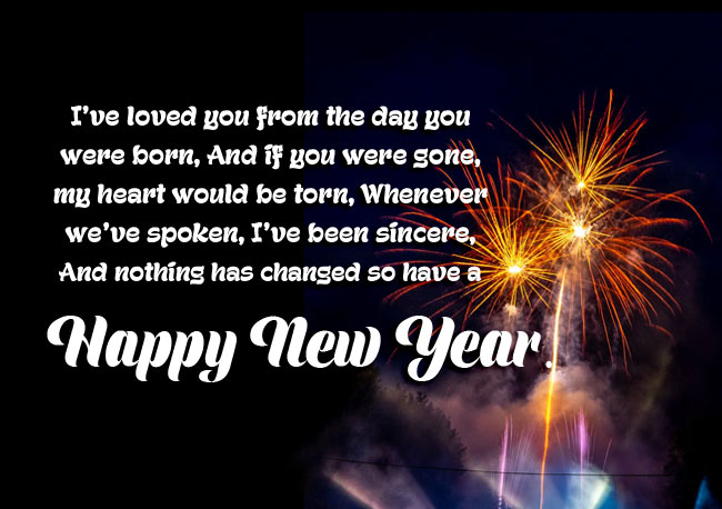 New Year Wishes for Son and Family