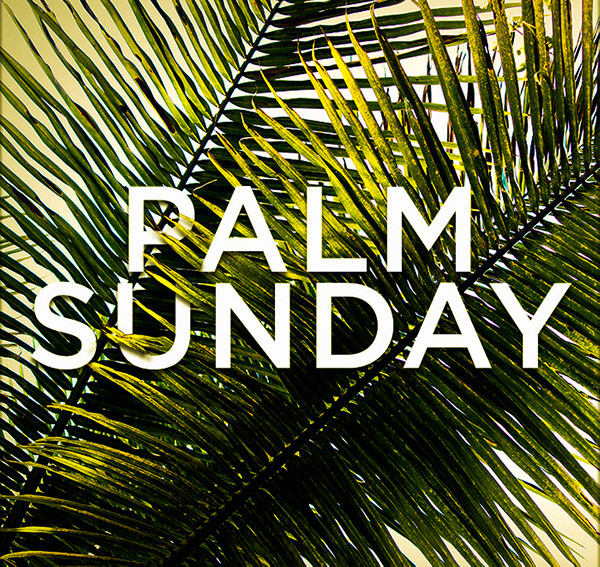 Palm Sunday image with leaves