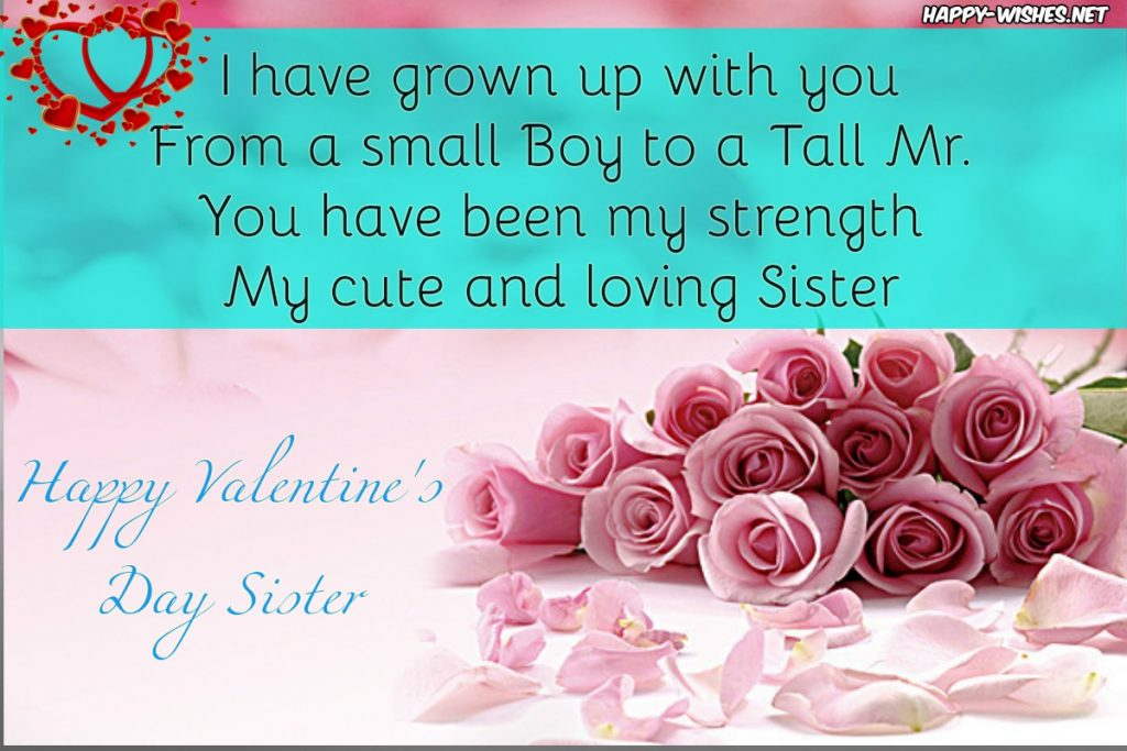 best Valentine's day message for sister