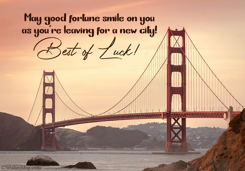 Best Wishes on Leaving for a New City