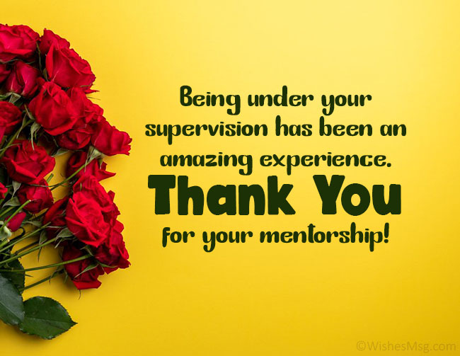 Appreciation Message to a Mentor