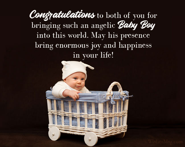 Religious Congratulations Message for Baby Boy