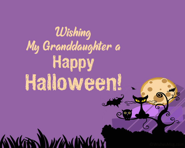 Halloween Wishes for Granddaughter from Grandma