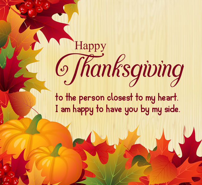 thanksgiving message to family members